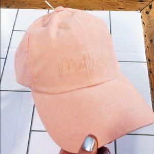 98c9f27d2855b NWT Motivated Peachy Pink Baseball Cap Hat